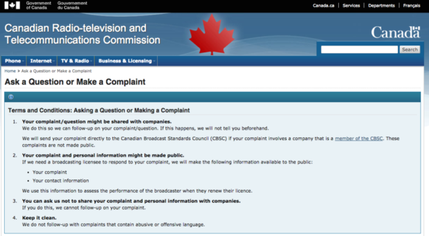 Dear CRTC, it's time to put this regulation on ice