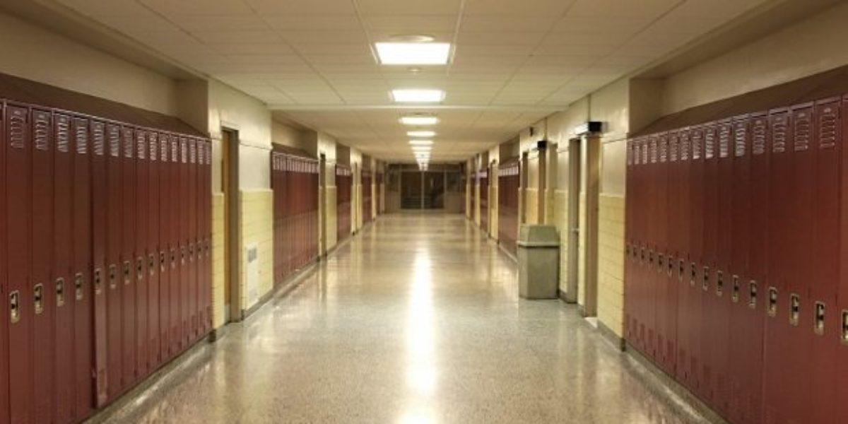 school-seconday-hallway-lockers-empty